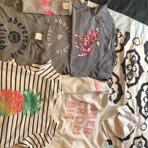 Abercrombie Kids Girl size 9/10 lot